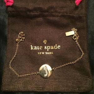 Kate Spade Gold Pave Initial bracelet